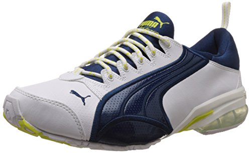 fcdd27ebe Puma 18888603 Men S Voltaic Ii Dp White Poseidon And Sulphur Spring Mesh  Running Shoes 10 Uk- Price in India