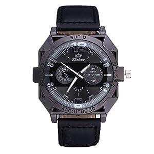 Edelstahl Quarz Uhr Analog-digital Smartwatch Fitness Tracker Uhren Intelligente Armbanduhr Automatik Zifferblatt Watch High-End Blue Glass Wasserdicht Armband DIKHBJWQ für Herren Damen