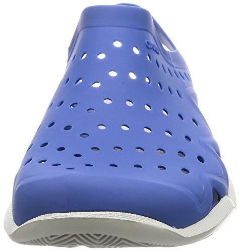 crocs Herren Swiftwater Wave Brogue, Grau Blue Jean/Pearl White