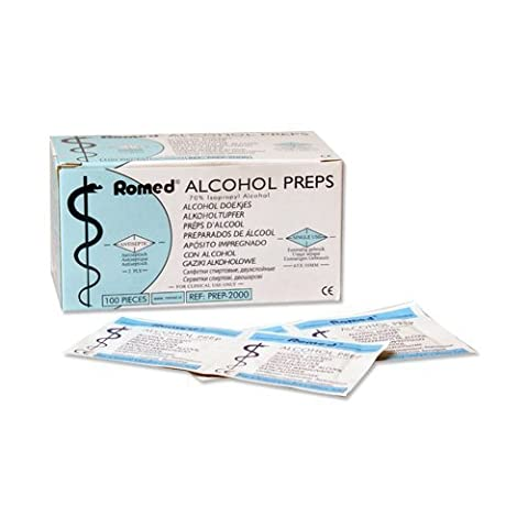 Tampons Alcool 2-couches 65 x 30mm écouvillon Alcool 100 Pièce