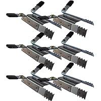 6 de sujeción de seguridad para persiana enrollable protección antirrobo hebilla robo de copia de seguridad 3 x 2 piezas