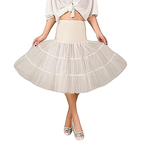 Hosaire 1X Sottogonna battenti Vintage Petticoat Fancy Net Gonna Rockabilly Tutu (Pianura), Le ragazze e le donne sono la scelta migliore, Gonne,L