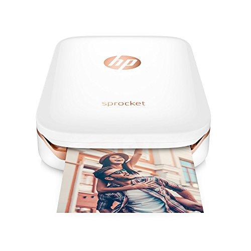 HP Sprocket  Z3Z91A#631- Stampante Fotografica Portatile, 5 x 7.6 cm, Bianco