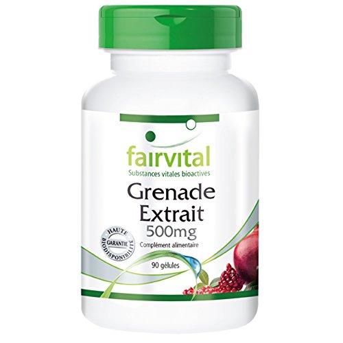 Extrait de Grenade 500mg riche en acide ellagique - 90 gélules végétariennes - peau de Punica granatum
