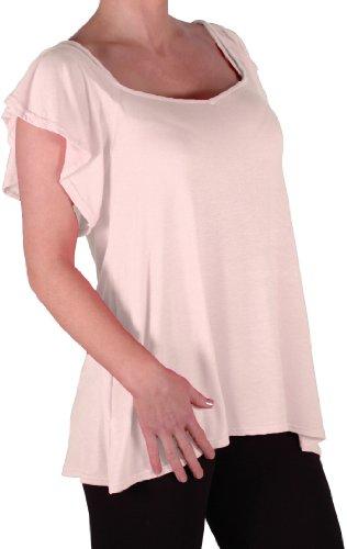 EyeCatch TM - Haut fines bretelles larges manches tombant sur les épaules - Cherie - Femme Crème