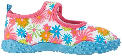Playshoes Unisex-Kinder Badeschuhe Blumenmeer mit Uv-Schutz Aqua Schuhe Pink (Pink)