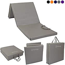 Sure Shot Fitness Unisex's Tri Fold Fitness Mat, Silver, 30mm
