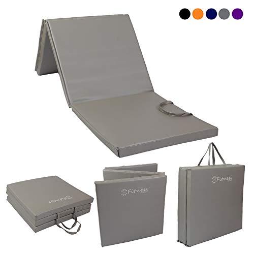 Sure Shot Fitness Unisex's Tri Fold Fitness Mat, Silver, 30mm