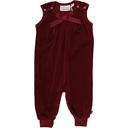 Fred'S World By Green Cotton Velvet Romper Girl Body, Rouge (Bordeaux 019172401), 92 cm Bébé Fille