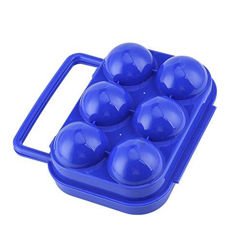 zyurong Eier Carrier Box Tragbarer Hand Held Ei Tablett, Polypropylen, Zufällige Farbauswahl, for 6 eggs