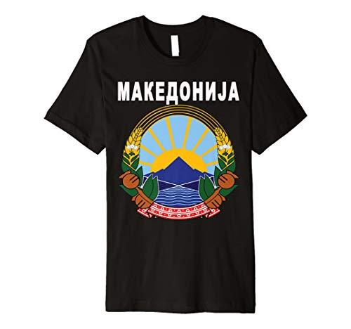 Mazedonien Nation Jersey T-Shirt-Schwarz Mazedonischen Shirt