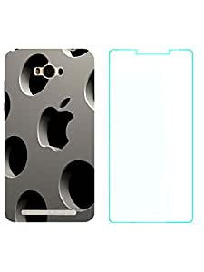 TREECASE Designer Printed Soft Silicone Back Case Cover For Asus Zenfone Max ZC550KL + Temper Screen Guard