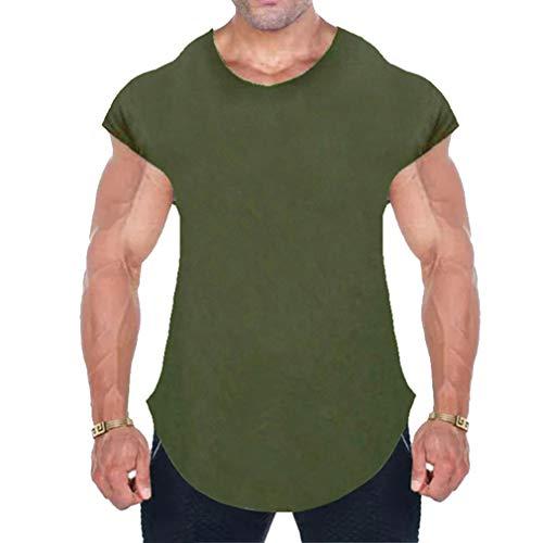 c19724b9f51 Yying Cotton Gym Shirt Sport T Shirt Men Short Sleeve Running Shirt Workout  Training Tees Fitness