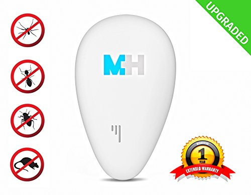 Pest Control (UPGRADED UNIT) – Ultrasonic Pest Repeller + Mouse and Moth Repeller + Rat and Mouse Trap - Ultrasonic Non Toxic - Plug in Pest Repeller No Insect Spray - Repels Rats, Shrews, Mice, Cat Fleas