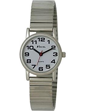 Ravel Damen-Armbanduhr Analog Quarz Edelstahl R0208.02.2S