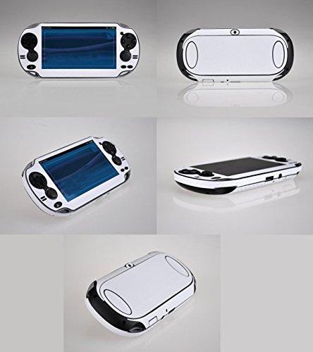 Beautyrain Weiße schützende Carbon_Fiber Haut Aufkleber Fall Abdeckung Aufkleber Schutz für Sony Playstation PS Vita_PSV 1000 Konsole Vinyl