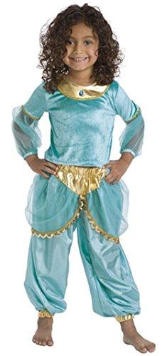 Little Adventures Traditionelle Arabische Prinzessin Mädchen Kostüm - Mittel (3-5 Jahre)