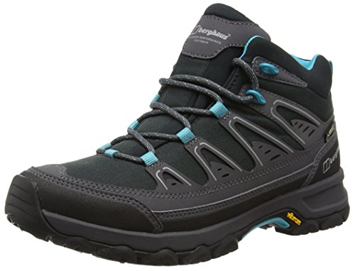 Explorer Gtx Boot (Berghaus Explorer Active Gtx Tech, Women's High Rise Hiking Shoes, Multicolor (Black/Spray Y41), 8 UK (41/42 EU))