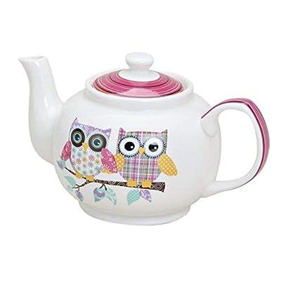 Théière en porcelaine avec motif hiboux-motif tea for one service à thé