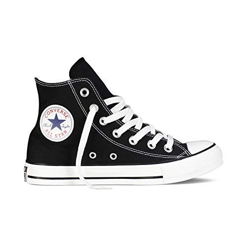 Converse Chuck Taylor All Star High Classic CTAS Hi Damen Herren Unisex Turnschuhe Canvas Sneaker Sportschuhe mit 7kmh Aufkleber Schwarz 37 Converse Chuck Taylor Stars