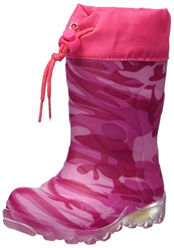 Beck Mädchen Camouflage Schneestiefel, Pink 06, 28 EU
