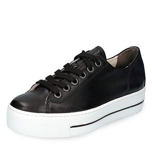 Paul Green 4790-024 Damen Sneaker Low aus feinem Glattleder mit 30-mm-Plateau, Groesse 38 1/2, schwarz