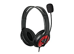 Enter EH-55 Wired Headphone With Mic(Black and Red)
