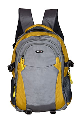 Ideal® Litres Grey and Yellow 25 Lts Laptop Backpack (Multiple Pockets)
