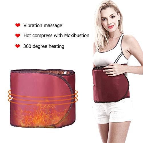 Elektrische Massage Slimmerbelt Thermische Elektrische Heizung Moxibustion Taille Unterstützung Gürtel Warme Gebärmutter Taille Gürtel Home Comfort Red One Size