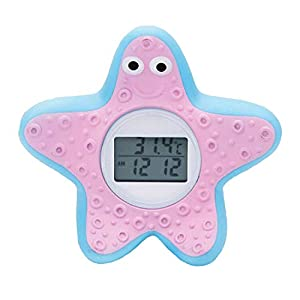 DongRong Baby Bath and Room Thermometer, The Infant Baby Bath Floating Toy Safety Temperature Thermometer. (Starfish)
