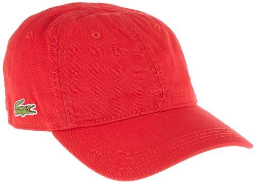 Lacoste - cappello dabaseball unisex, adulto, rosso (240 rouge), taglia unica