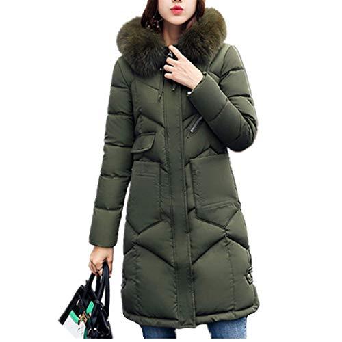 Fanessy Doudoune Femme Manteau Hiver Automne Chaud Chic Blouson à Capuche en Fourrure Mi-Long Parka Mode Grande Taille Zippé épais