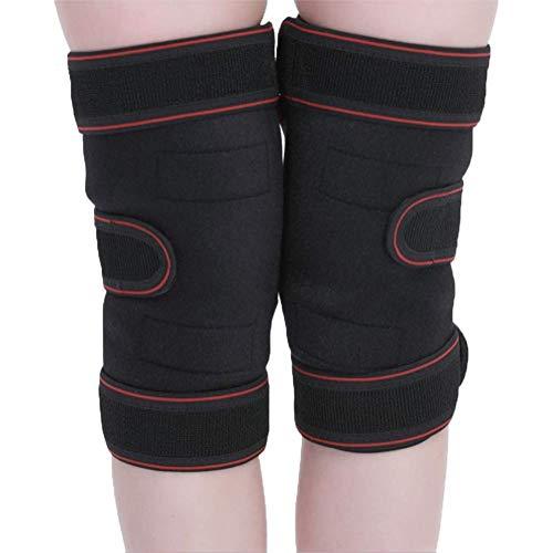 Auto-riscaldamento ginocchiera a prova di freddo tormalina magnetico terapia pad alleviare artrite dolore protezione cintura artrite dolore ginocchio massaggiatore una coppia (nero)