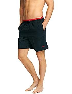 Zoggs Sandstone Shorts - Bóxers para competición para hombre, color negro/rojo, talla UK: XX-Large/42-44 Inch...