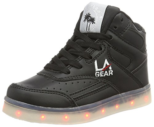 L.A. Gear Flo Lights, Chaussons montants mixte enfant Schwarz (black wht outsole)