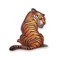 XXYMCB 12.5CM*13.7CM Cartoon Colorful Tiger Pattern Car Sticker Animal Decal PVC 5Pcs