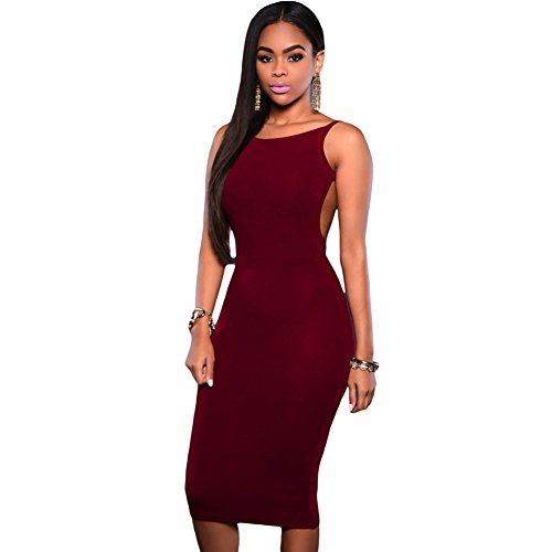 meinice-bassa-schiena-aperta-senza-maniche-midi-dress-red-medium