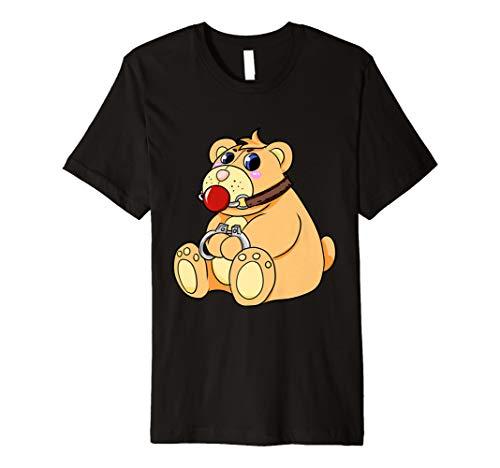 Böser Teddy Bär T-Shirt | BDSM Domina Sklave Handschellen