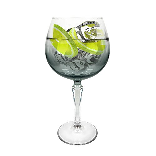 Ginsanity [Speakeasy Platinium groß [585 ml] Copa Glas Gin und Tonic [G&T] Balloon Gläser Für Cocktails und Geschenkbox Safedge Rim