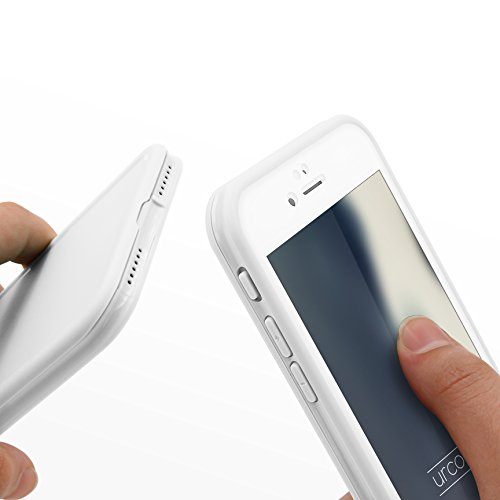Urcover® Apple iPhone 7 / 8 Hülle | Touch Case | TPU in Schwarz | inkl. Displayschutz rundum Schutz Tasche Handy Cover Schutzhülle Full View Weiß/Weiß