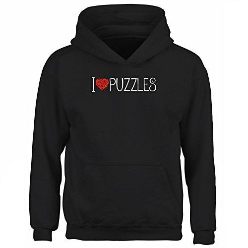 Idakoos I love Puzzles cool style - Ocio - Sudadera con capucha para niño