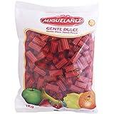 Miguelañez Bolsa Regaliz Rojo con Forma de Taco Estriado - 1000 gr