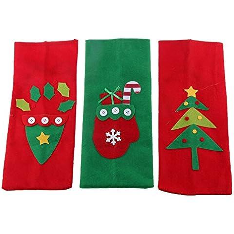 3x Bolsa de Botella de Vino Bolso Navidad Cubierta Envoltura de Regalo Caja Caramelos Vacaciones