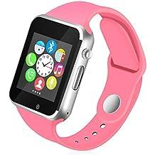 Kivors Reloj Inteligente A1 Bluetooth Smartwatch con TF/Ranura de Tarjeta SIM para Usar como