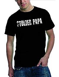Stolzer Papa - T Shirt | Papa-Shirt für stolze Väter | vintage Print - verschieden Farben