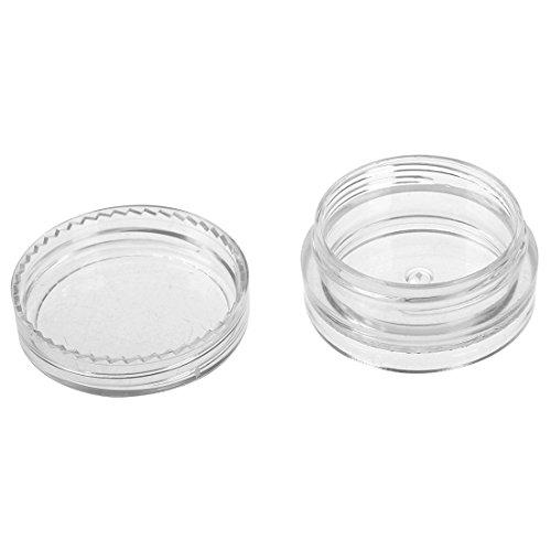 TOOGOO(R) boite cosmetiques boite a la creme Boite du filetage en aluminium en argent Boite d'emballage cosmetique 3 ml 10 pieces par un paquet