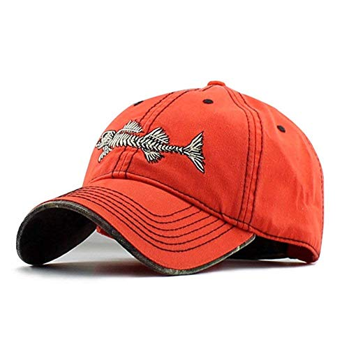 Unisex Baseball Cap Herren Damen Fashion Fishbone Stickerei Verstellbar Casual Classic Strand Urlaub Reisen Und Andere Outdoor Ten Jungs (Color : #3, Size : One Size)