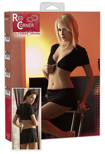 Preisvergleich Produktbild Red Corner Top und Rock schwarz, L
