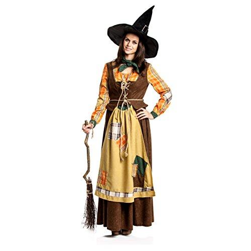 Für Orange Kostüm Erwachsene - Kostümplanet® Hexen-Kostüm Damen Hexe Erwachsene orange-braun Größe 40-42