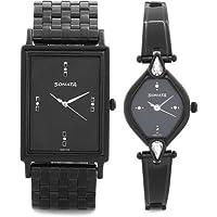 Sonata Analog Black Dial Unisex Watch-770038063NM01